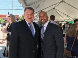 Chamblee Mayor Clarkson and Keith Parker