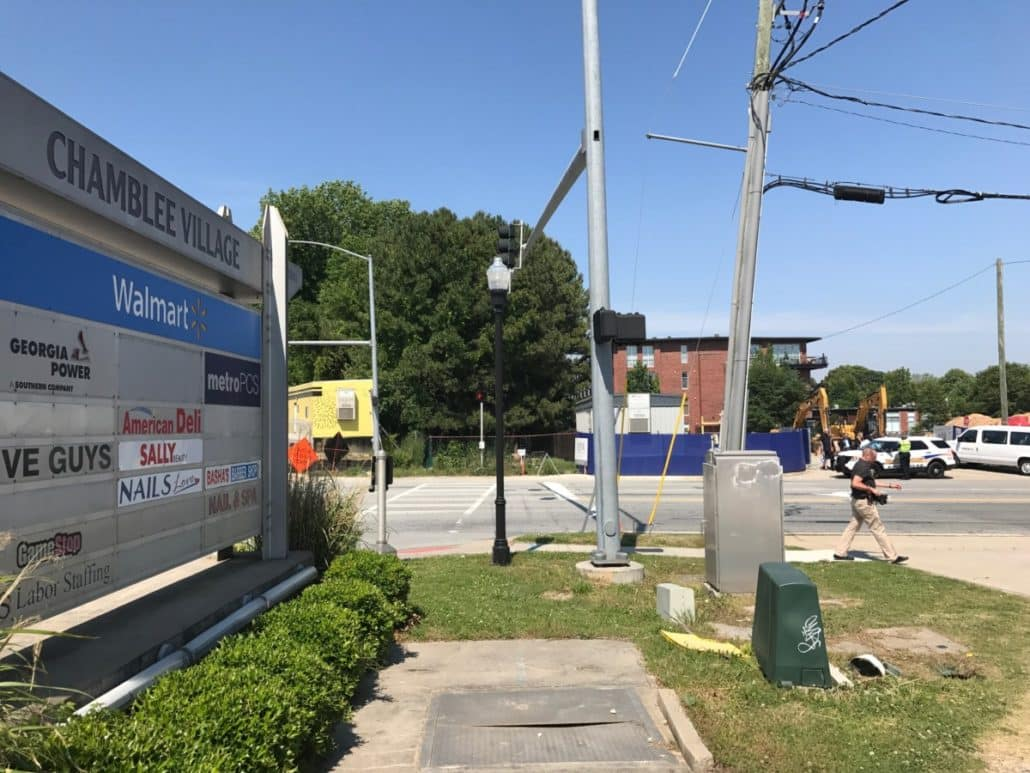 Chamblee also was the site of the first Walmart in Atlanta with underground parking (Photo by Maria Saporta)