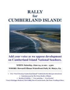 Cumberland Island rally poster, 5-20-17