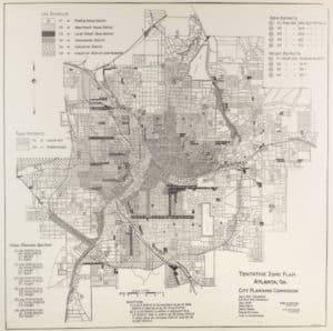 Atlanta zoning map, 1922