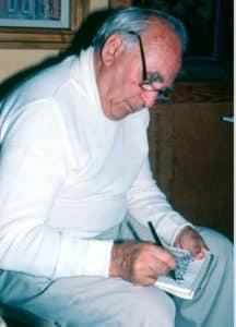 Papa sketching