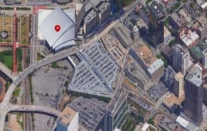 Philips Arena and gulch