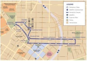 atlanta streetcar, map