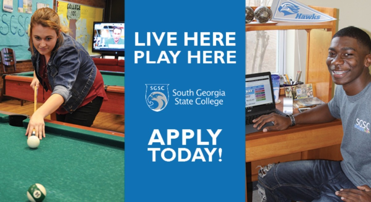 south georgia state college, live here, play here