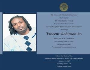 vincent robinson, invitation