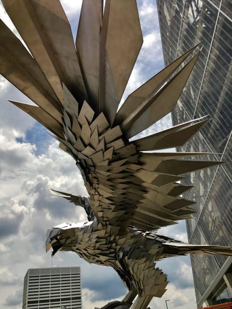 Falcons sculpture