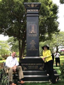 Maynard Jackson monument, portraits