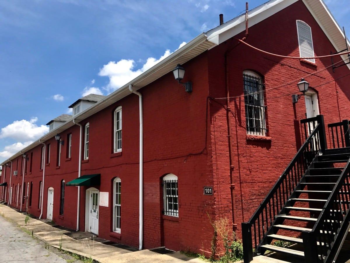 A brick building at Fort McPherson. Credit: Kelly Jordan