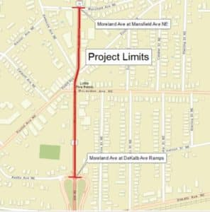 project limits, moreland