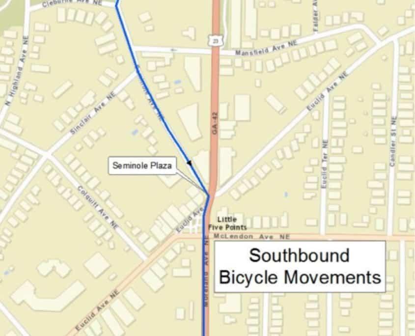 southbound bike movements, moreland