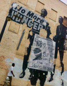 auburn, mural, hunger
