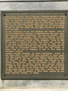 Gordon, plaque