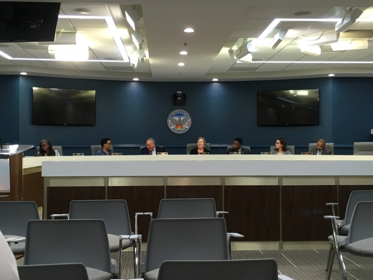 Atlanta's Board of Ethics voted Thursday not to reconsider a 2013 opinion that says Invest Atlanta can't get free Mercedes-Benz Stadium tickets. Credit: Maggie Lee