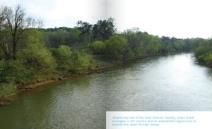 atlanta city design, chattahoochee river