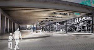 auburn, underpass, rendering