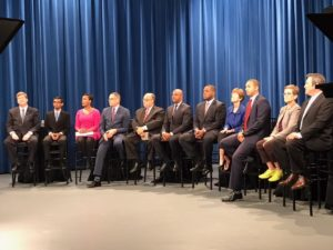 Days before early voting begins, some of Atlanta's mayoral hopefuls took a chance to ask each other some pretty pointed questions at a debate. Credit: Maria Saporta