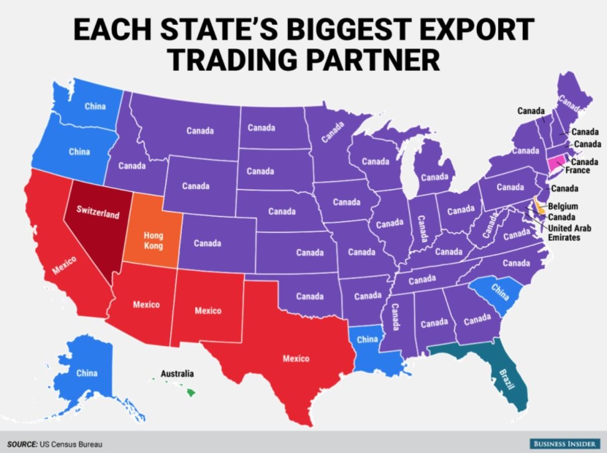 Georgia's export trade partner