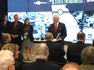 Georgia Gov. Nathan Deal announced on Monday at Tech Square that Site Selection magazine has ranked Georgia the top state for doing business five years running. Credit: Maggie Lee
