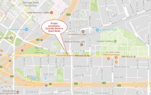 memorial drive, locator map