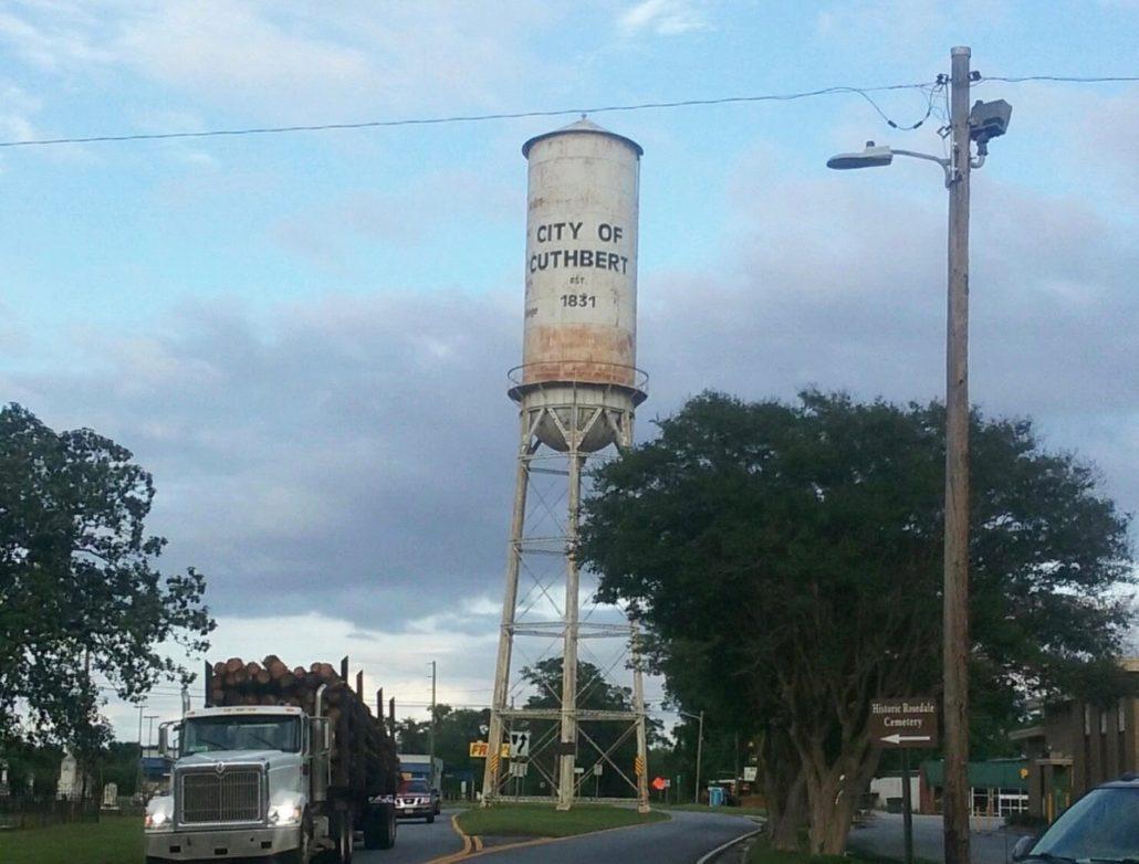 Cuthbert Water Tower in Cuthbert (Randolph County)
