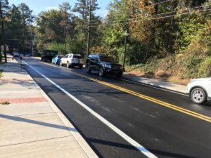 Lyndhurst Drive in southwest Atlanta, pictured in September with new paving, sidewalks, lights and more, in part with Renew Atlanta Bond money. Credit: Maggie Lee