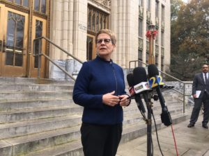 Cathy Woolard, former Atlanta City Council president and third-place finisher in this year's mayoral race, said she's going to vote for Mary Norwood. Credit: Maggie Lee