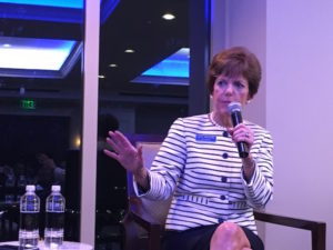 Mayoral candidate Mary Norwood speaking at Thursday night's forum. Credit: Maggie Lee