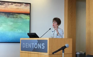 Mary Norwood on Monday at Dentons Downtown. Credit: Maggie Lee