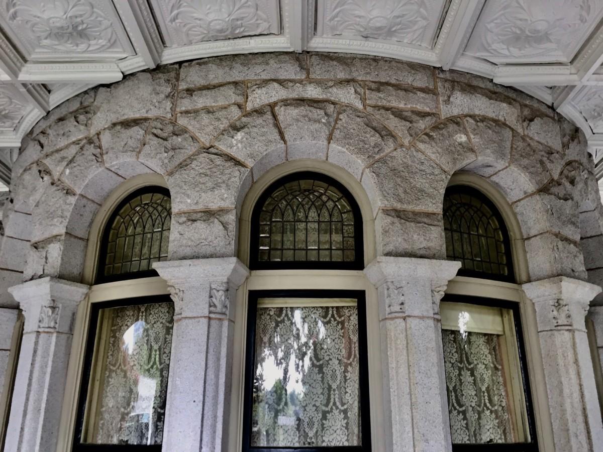 A close look at a window at Rhodes Hall Credit: Kelly Jordan