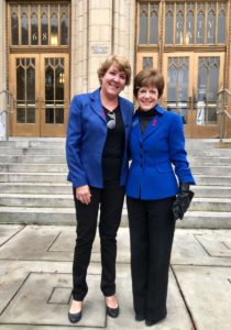 Former state Rep. Margaret Kaiser, an east side Democrat (left) with Mary Norwood. Credit: Kelly Jordan