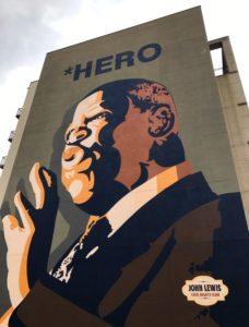 John Lewis mural on Sweet Auburn Avenue