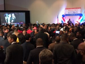Mayoral candidate Keisha Lance Bottoms' watch party at the Hyatt Downtown on Tuesday. Credit: Maria Saporta