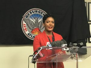 In her first press conference as mayor, Keisha Lance Bottoms said there's already being legislation filed to create new commissions to look at critical issues like criminal justice reform. Credit: Maria Saporta