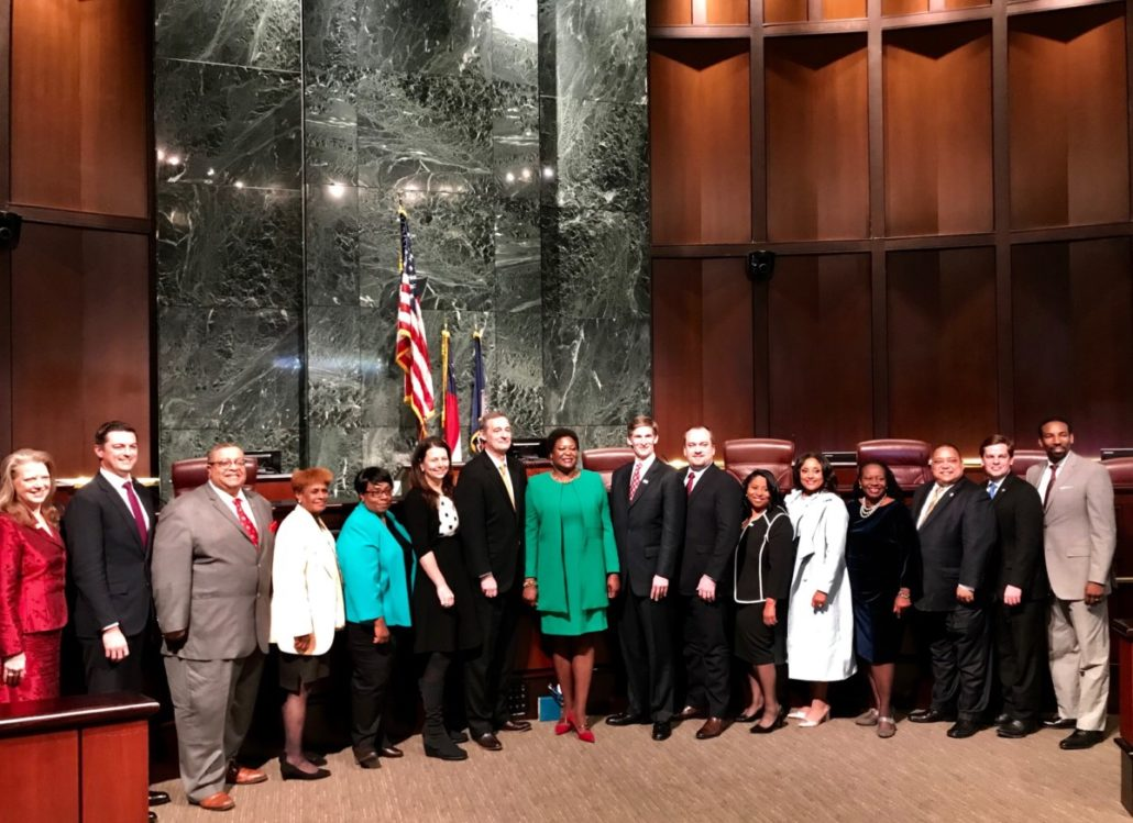 The new Atlanta City Council's first official photo in chambers, Tuesday evening. Credit: Kelly Jordan