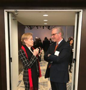 Metro Atlanta Chamber of Commerce President and CEO Hala Moddelmog with former Beltline CEO Paul Morris. Credit: Kelly Jordan