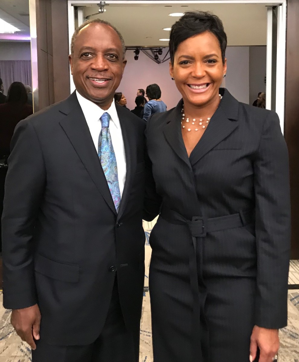 DeKalb County CEO Michael Thurmond and Atlanta Mayor Keisha Lance Bottoms. Credit: Kelly Jordan