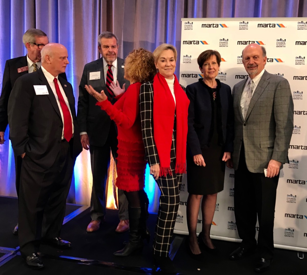 Legislative and business leaders at the State of MARTA breakfast on Friday morning. Credit: Kelly Jordan