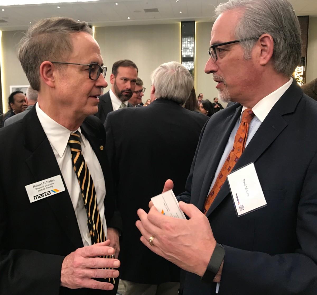 MARTA Board member Bob Dallas and former BeltLine CEO Paul Morris. Credit: Kelly Jordan