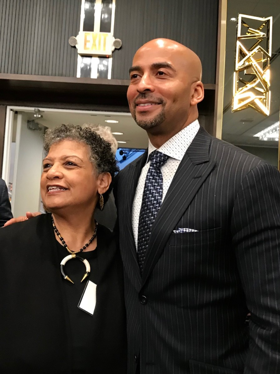 Two former MARTA bosses: Beverly Scott and Keith Parker at the State of MARTA breakfast. Credit: Kelly Jordan
