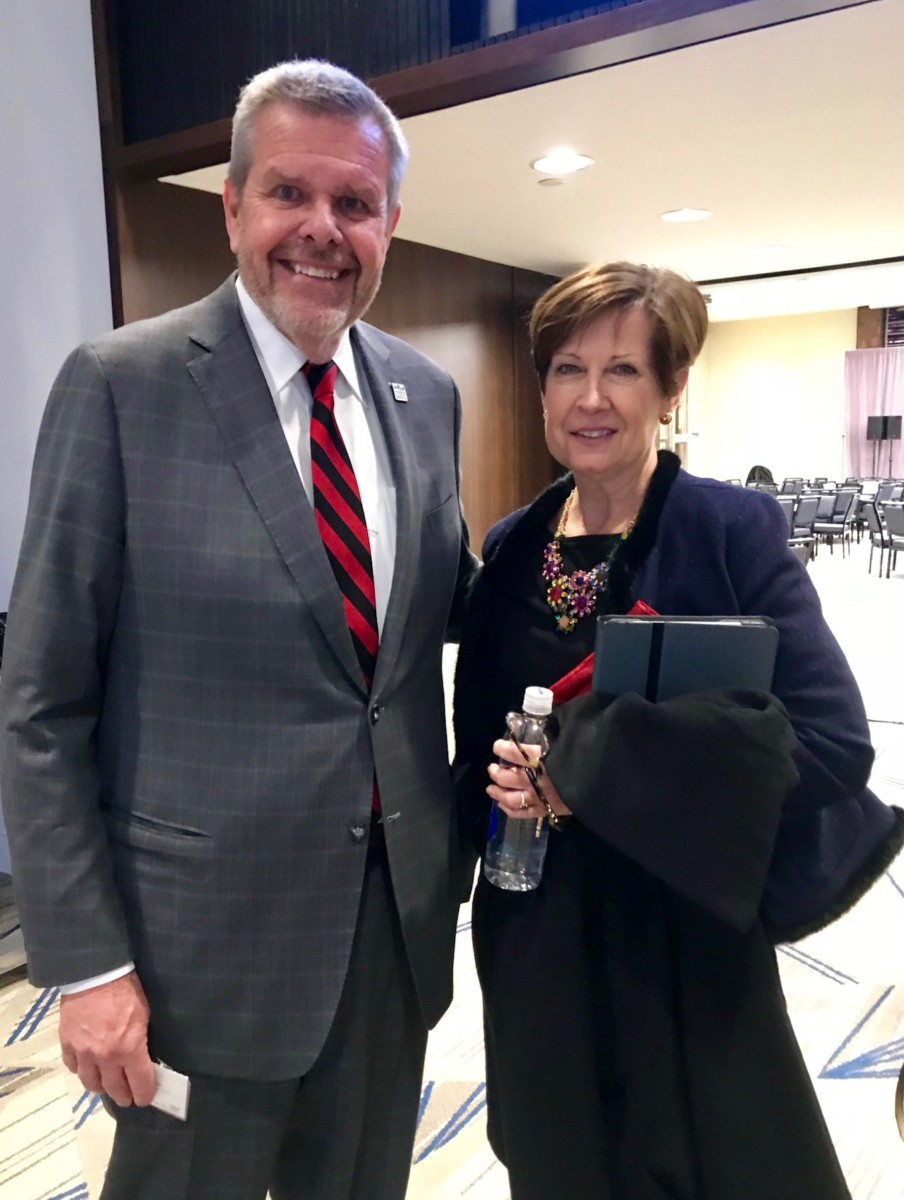 Council for Quality Growth President and CEO Michael Paris with MARTA Interim CEO and General ManagerElizabeth M. O'Neill Credit: Kelly Jordan