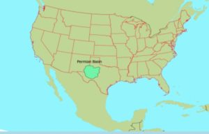 Permian Basin, map