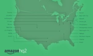 amazon hq2, map