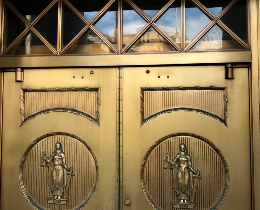 The Doors of the state of Georgia's Judicial Building Downtown. Credit: Kelly Jordan
