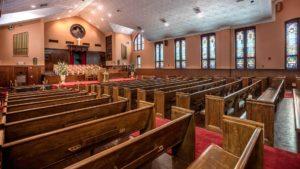Ebenezer Baptist Church interior