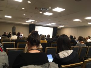 A session on digital storytelling, held Saturday in Chicago during an annual journalism conference. Credit: Maggie Lee
