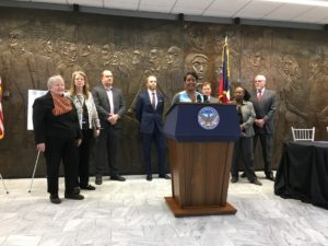 Atlanta Mayor Keisha Lance Bottoms announced on Thursday that the city is acquiring land on the south side of Atlanta for about 4.5 miles of the BeltLine. Credit: Maggie Lee