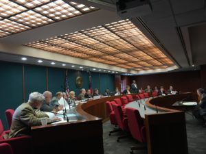 The House Public Safety and Homeland Security Committee meeting on Tuesday at the Capitol, ahead of a vote on SB 452. Credit: Maggie Lee
