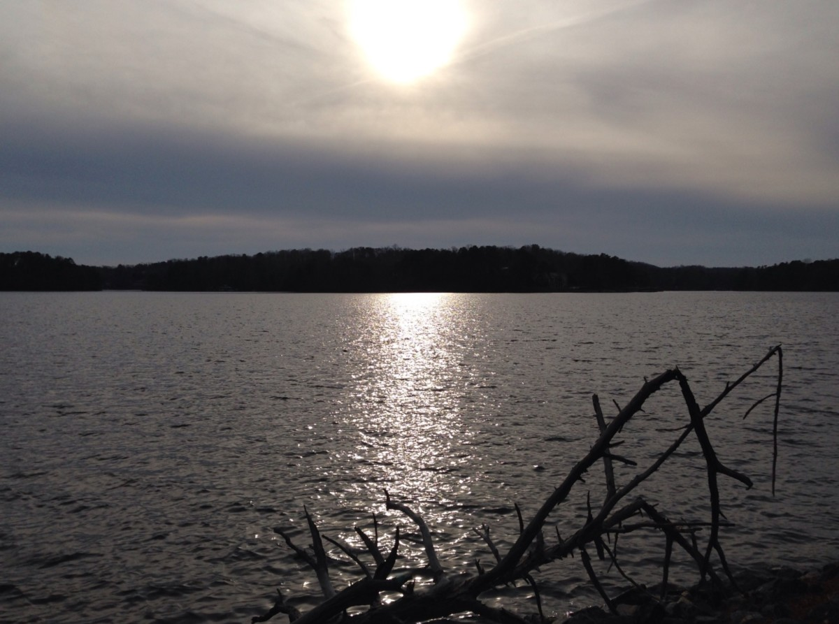 lake lanier, sun
