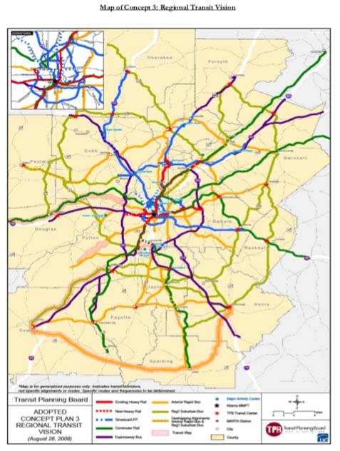 Concept 3 transit plan