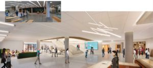 A slide presented by Cooper Carry on Wednesday shows proposed new interior works on the ground floor of Atlanta's Central Library.